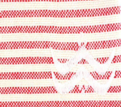Foutfouta Trousse hammam tissu fouta rouge 2