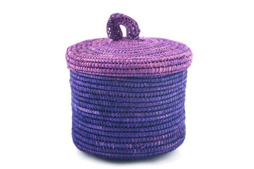 Sylsella Grand panier raphia panier de salle de bain violet