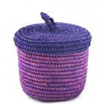 Sylsella – Panier medium en raphia nuances de violet