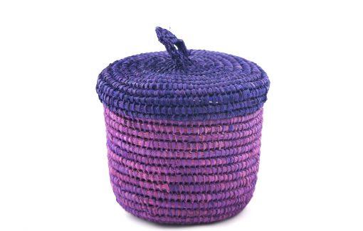 Sylsella Panier medium raphia panier de salle de bain violet