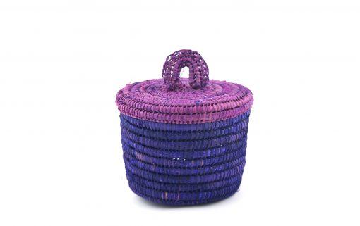 Sylsella Petit panier raphia violet panier de salle de bain violet