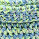 Panier en crochet bleu vert 2