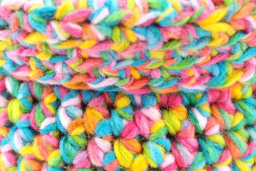 Bisofa Panier tricot multicolore 2
