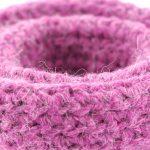 Bisofa – Panier en crochet rose 4