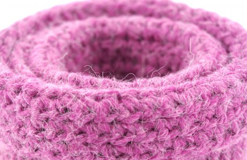 Bisofa Panier crochet rose 4