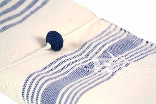 Lalla Fouta – Grande fouta bleue majorelle brodée en coton 2