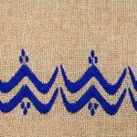 Matrouza – Grande trousse berbère bleue en jute brodée 2