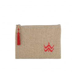 matrouza petite trousse berbère rouge trousse jute trousse brodée trousse de toilette maroc 1