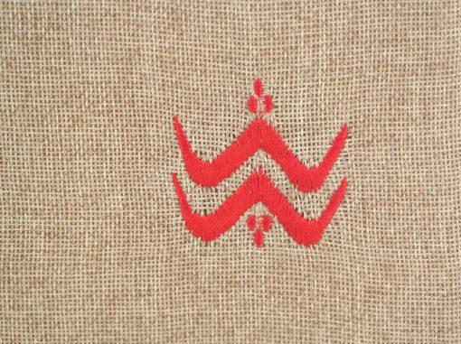 matrouza petite trousse berbère rouge trousse jute trousse brodée trousse de toilette maroc 2