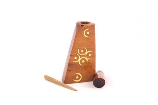 Mikhalla Souiria – Flacon khol d'Essaouira en bois – A motifs 3