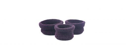 Bisofa Paniers en laine violet panier en laine