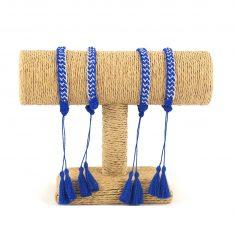 sablij bracelet marocain bracelet passementerie bracelet bleu bracelet argenté 1
