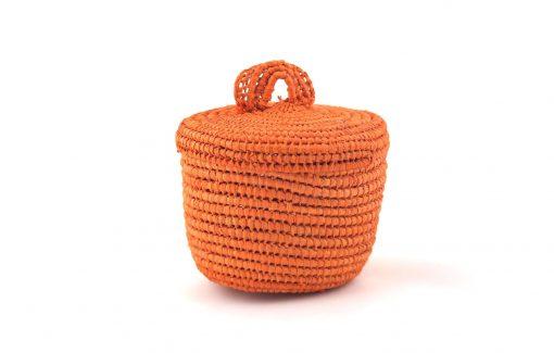 Tislila petit panier en raphia orange