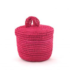 Tislila petit panier en raphia rose