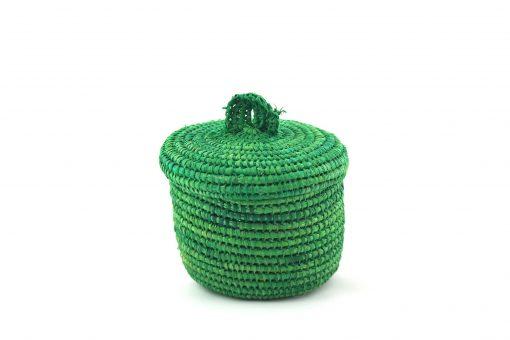 Tislila petit panier en raphia vert