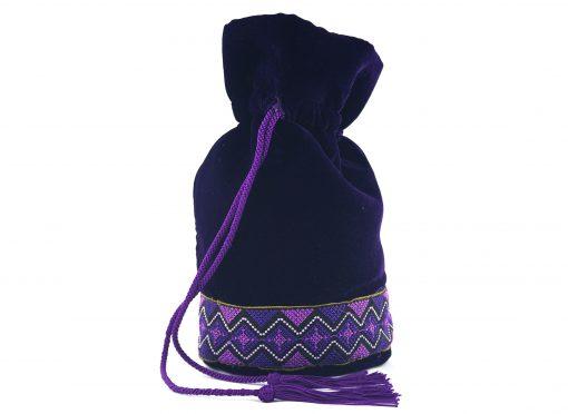 Moulat El Banda – Bourse marocaine à dentelle violet vif 1