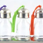Yasaboun – Set de 3 flacons marocains en verre avec support – 2