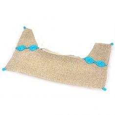 boite à mouchoirs en tissu bleu turquoise 1