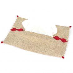 boite à mouchoirs en tissu rouge 1
