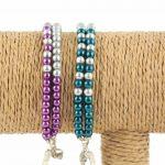 Lounayal – Bracelet à pompon en perles bicolores 2
