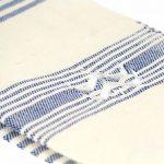 Lalla Fouta – Petite fouta bleu majorelle brodée en coton 2