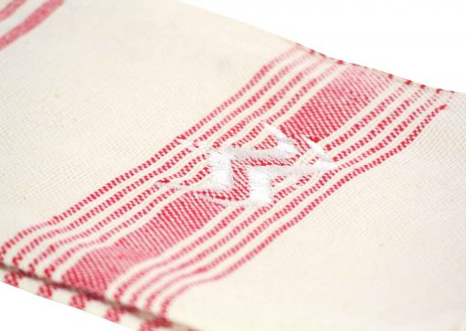 Lalla Fouta – Petite fouta rouge brodée en coton 2