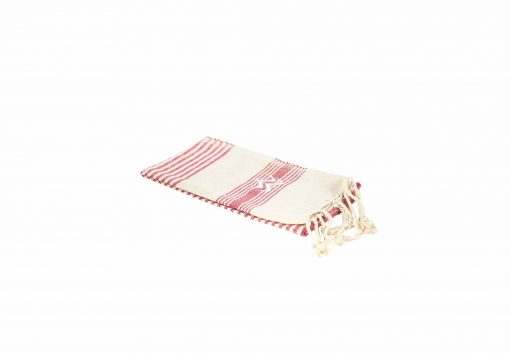 Lalla Fouta – Petite fouta rouge brodée en coton
