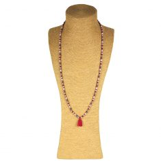 Lounayal sautoir à pompon perles brillantes 1