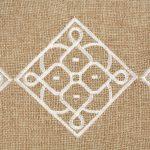 Matrouza – Grande trousse andalouse blanche en jute brodée 2