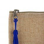 Matrouza – Grande trousse andalouse bleue en jute brodée 3