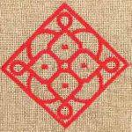 Matrouza – Grande trousse andalouse rouge en jute brodée 2