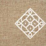 Matrouza – Petite trousse andalouse blanche en jute brodée 2