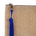 Matrouza – Petite trousse andalouse bleue en jute brodée 3
