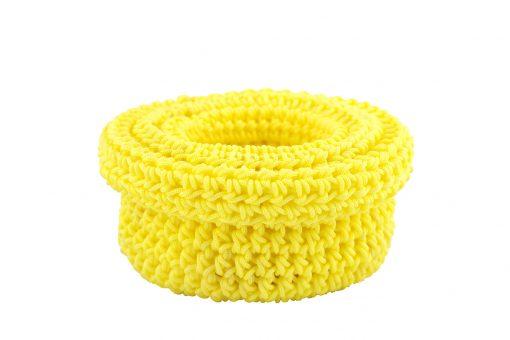 Bisofa – Set de trois paniers colorés en corde jaune 3