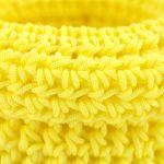 Bisofa – Set de trois paniers colorés en corde jaune 2