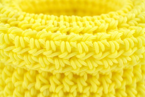 bisofa paniers colorés en corde panier laine jaune 2