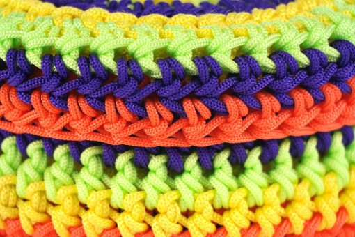 Bisofa – Set de trois paniers colorés en corde multicolore 2