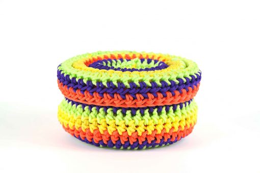 Bisofa – Set de trois paniers colorés en corde multicolore 3