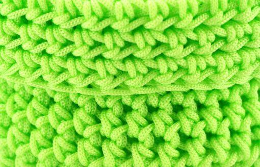 bihabl panier corde salle de bain coloré panier laine vert fluo 2