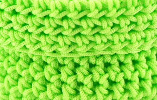 Bisofa – Set de trois paniers colorés en corde vert fluo 2