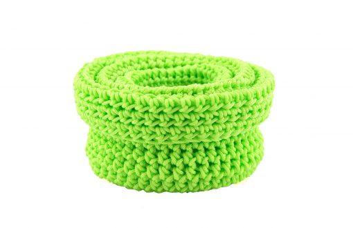 Bisofa – Set de trois paniers colorés en corde vert fluo 1