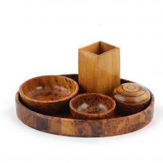 set de salle de bain en bois salle de bain bois de thuya 2