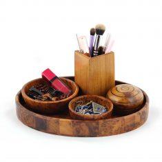 Ensemble de salle de bain en bois salle de bain en bois de thuya 1 Rangement