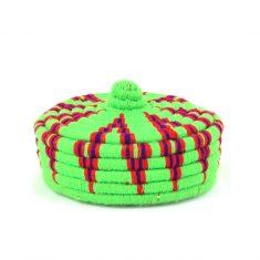 petit panier berbère vert panier laine vert panier marocain vert