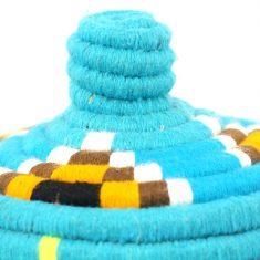 panier berbère bleu turquoise panier laine bleu panier berbère bleur clair panier marocain bleu clair