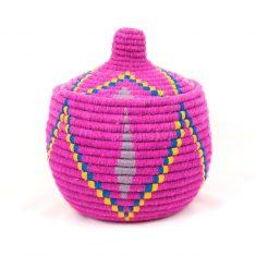 grand panier berbère rose panier laine rose panier marocain rose