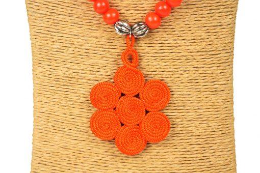 sautoir à perles en bois collier à perles en bois sautoir perles bois sautoir perles orange