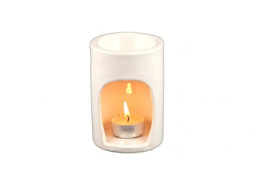 Damya – Brûle parfum céramique blanc