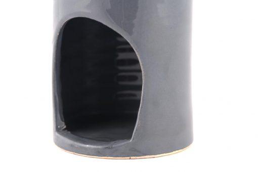 Damya – Brûle parfum céramique gris 2
