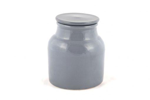 Damya – Grande boîte céramique grise